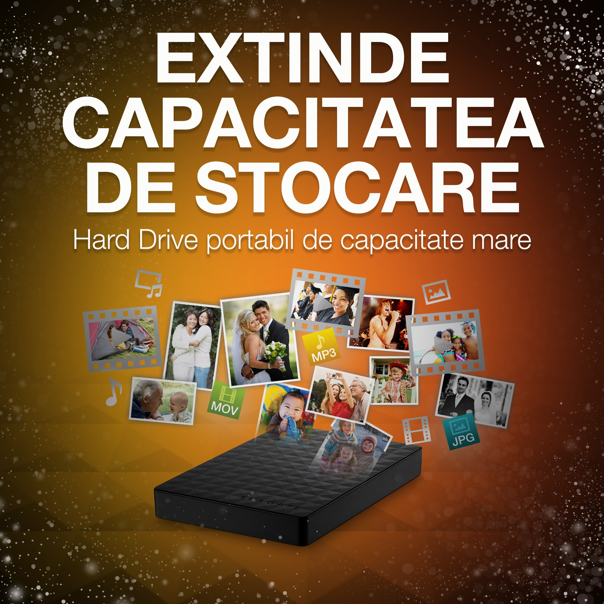 "HDD extern Seagate Expansion Portable 1TB, 2.5"", USB 3.0, Negru"