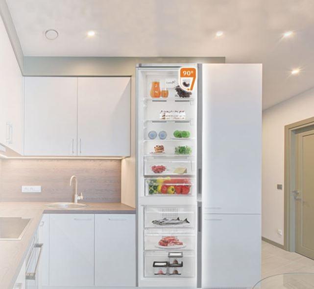 Хладилник с фризер Arctic AK60406E40NFW