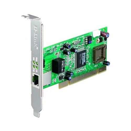 Fotografie Placa de retea D-Link Gigabit PCI Bus 2.1 2.2, 32 Bit, 1000BaseT