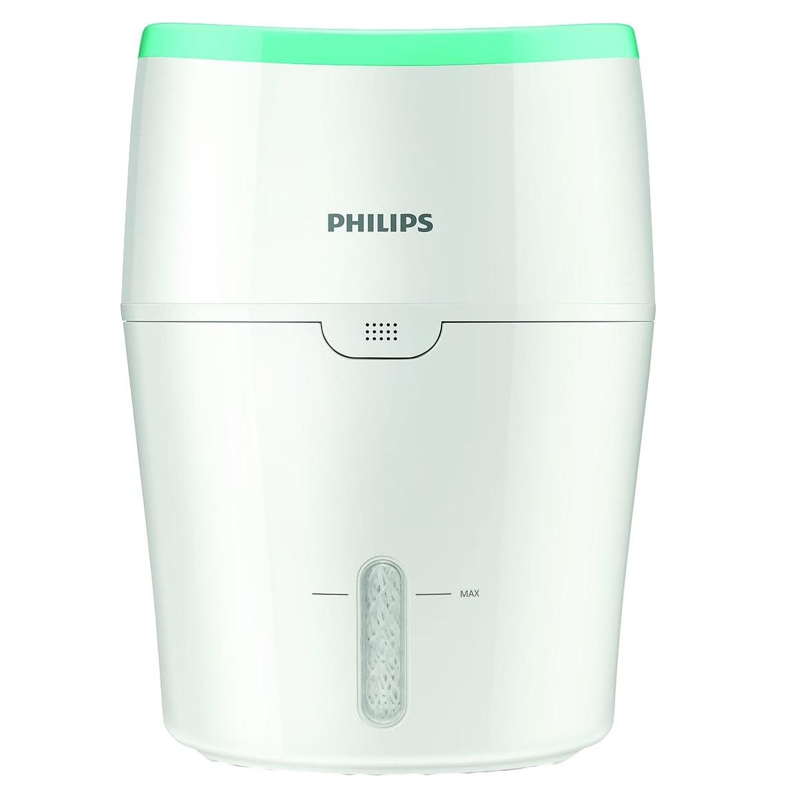 Fotografie Umidificator de aer Philips HU4801/01, Tehnologie NanoCloud, Rezervor 2 l, 200 ml/h, Alb/Verde