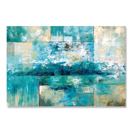 Tablou Canvas - Valuri, Mare, Abstract, Albastru, 80 x 120 cm