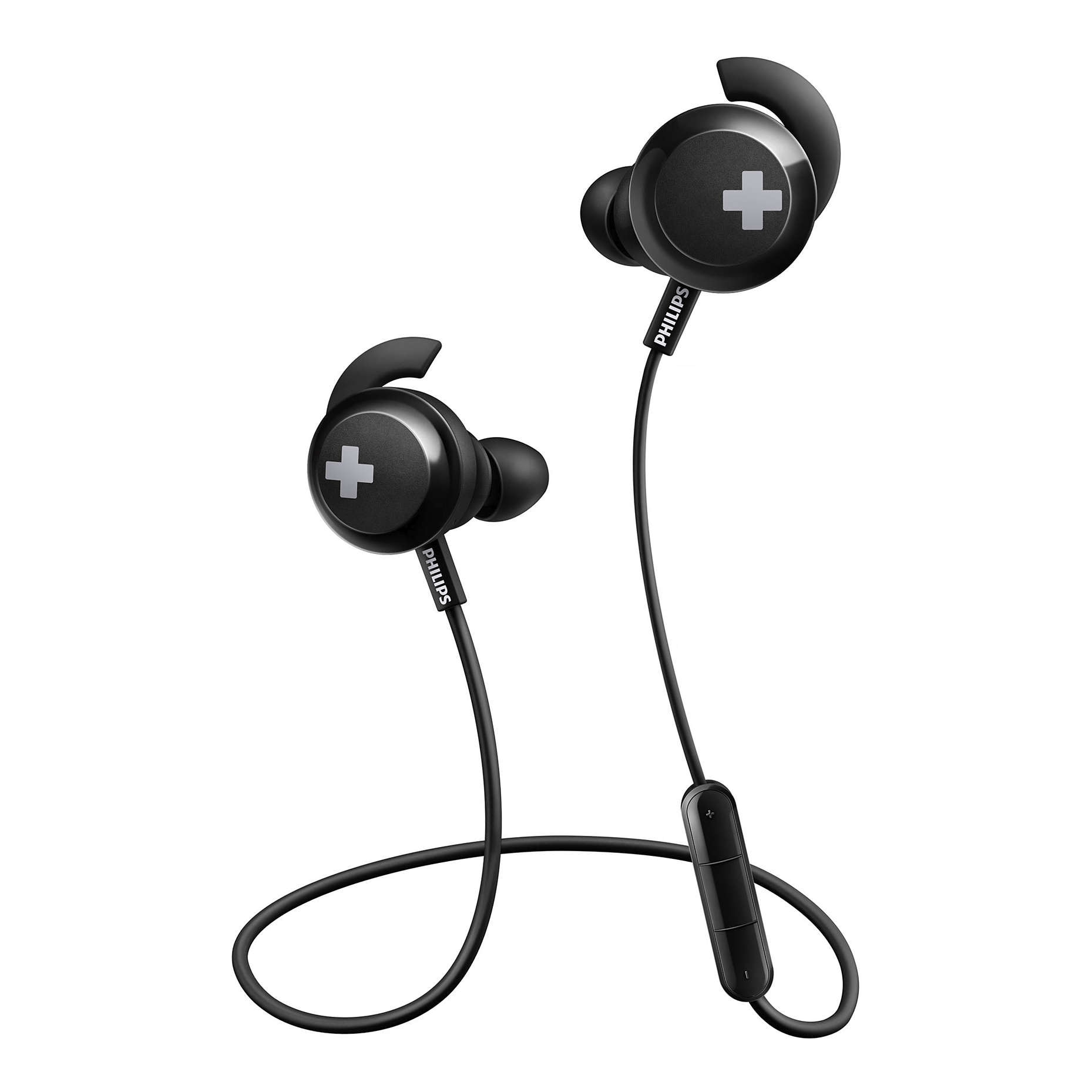 Fotografie Casti Philips SHB4305BK/00 BASS+, In Ear, wireless, Negru