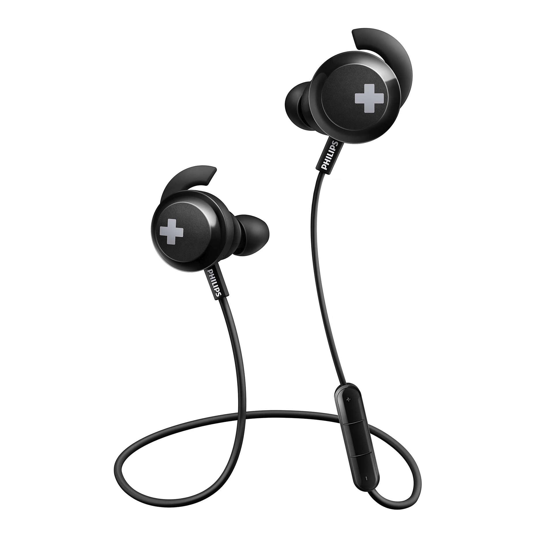 Fotografie Casti Audio In-Ear Philips, SHB4305BK/00, Bluetooth, Autonomie 6h, Negru