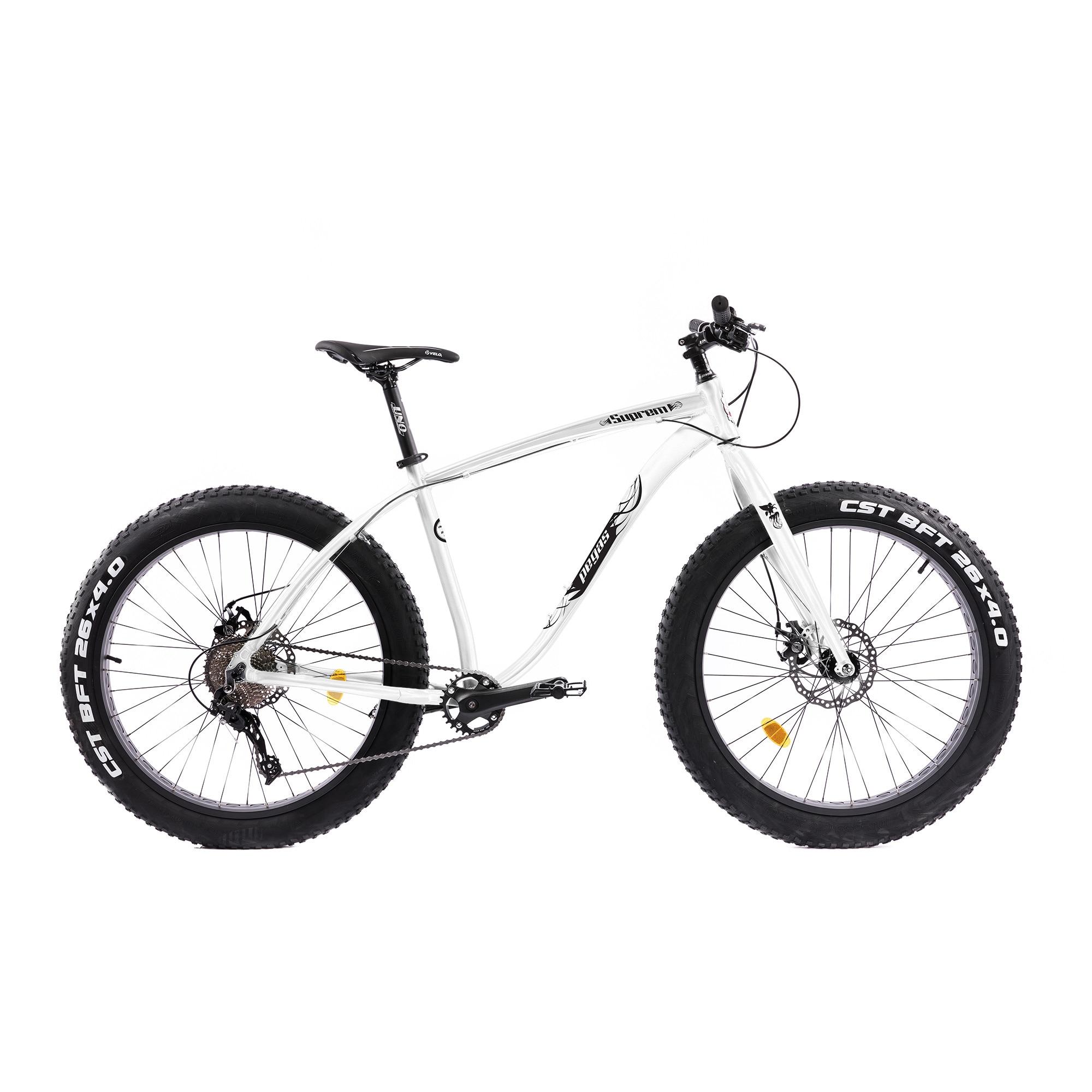 "Fotografie Bicicleta Pegas Fat Bike Suprem Fx 17"" 10s, Alb Perlat"