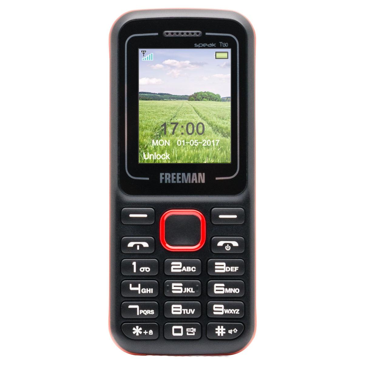 Fotografie Telefon mobil Freeman Speak T130, Dual SIM, Black/Red