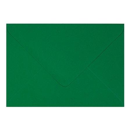 Plic colorat invitatie / felicitare verde Craciun 130 mm x 130 mm