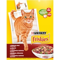Храна за котки в зряла възраст PURINA®FRISKIES®, Месо, Пиле и Зеленчуци, суха, 300g
