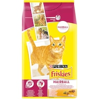 Храна за котки в зряла възраст PURINA® FRISKIES ® HAIRBALL, Пиле и Зеленчуци, суха, 1,5kg