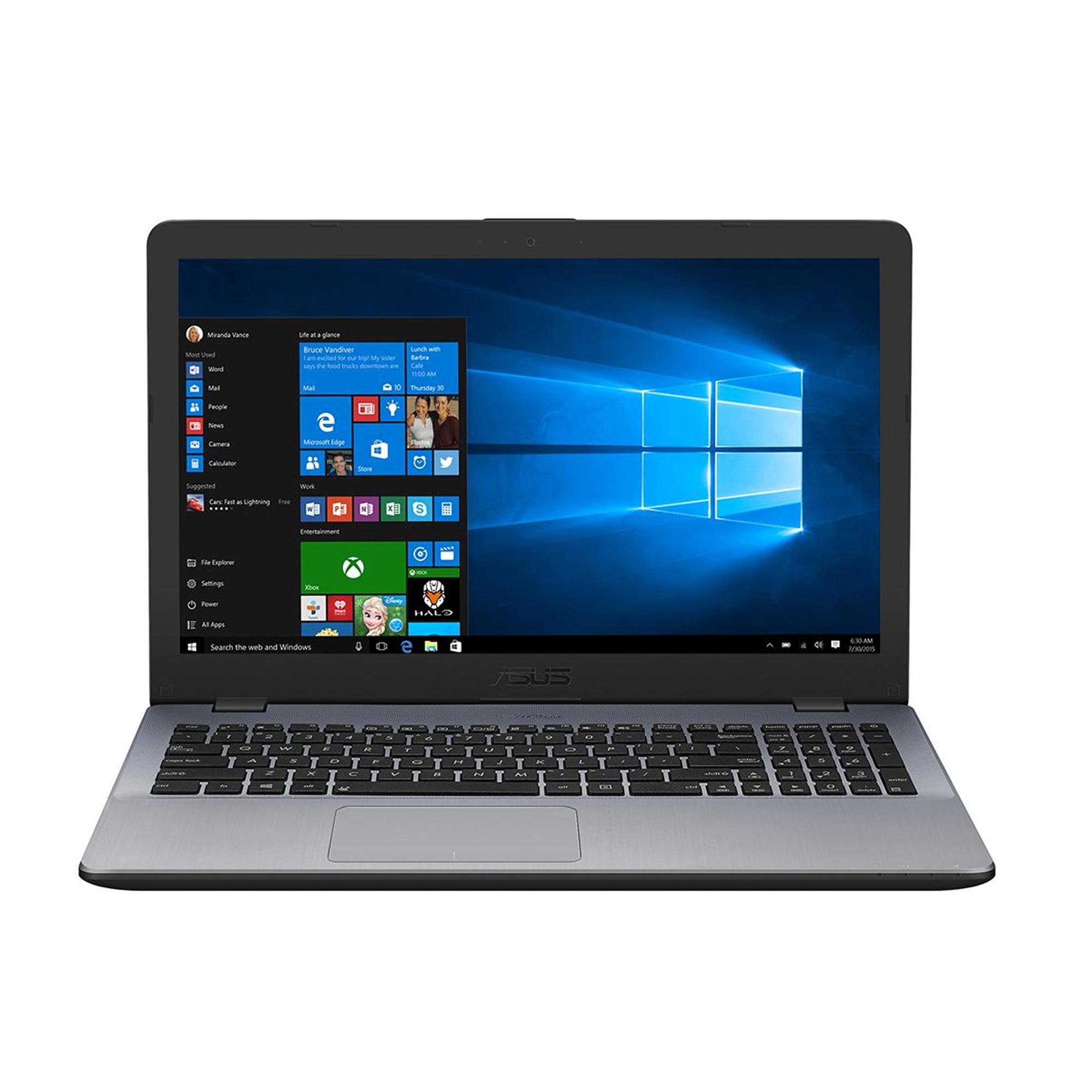 """Fotografie Laptop ASUS F542UN cu procesor Intel® Core™ i7-8550U pana la 4.00 GHz, Kaby Lake R, 15.6"""", Full HD, 8GB, 1TB, DVD-RW, NVIDIA GeForce MX150 4GB, Microsoft Windows 10, Dark Grey"""