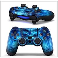 Kontoller matrica PS4-hez -Skull - Ice Blue