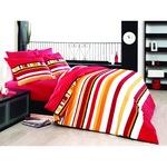 Спално бельо Decona Класико, 100% памук Ранфорс, 2 персона, 4 части, Червен