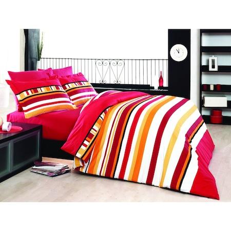Спално бельо Decona Класико, 100% памук Ранфорс, 1.5 персона, 4 части, Червен