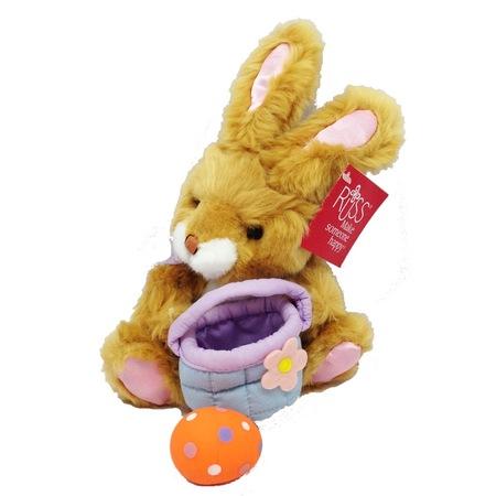 Плюш играчка Russ Berrie Великд. заек с кошница и яйце, 20см (37045-1-37092)