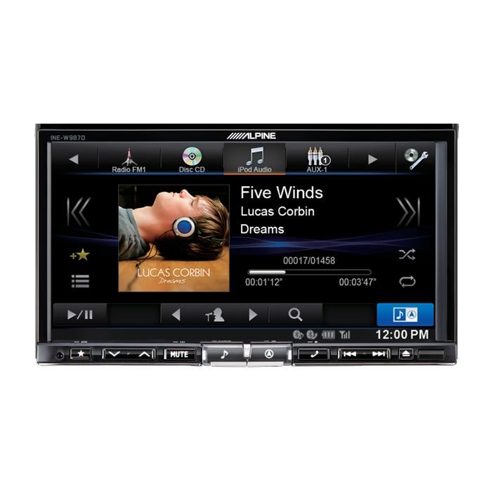 """Fotografie Sistem DVD Alpine INE-W987D, Multimedia 2 DIN, cu navigatie integrata, Bluetooth, ecran 7"""""""