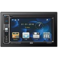 "Media player auto 2 DIN Akai, A-2DIN2217, display 6,2"", 4X25W RMS, USB, AUX, iluminare albastru, telecomanda, fara unitate DVD"
