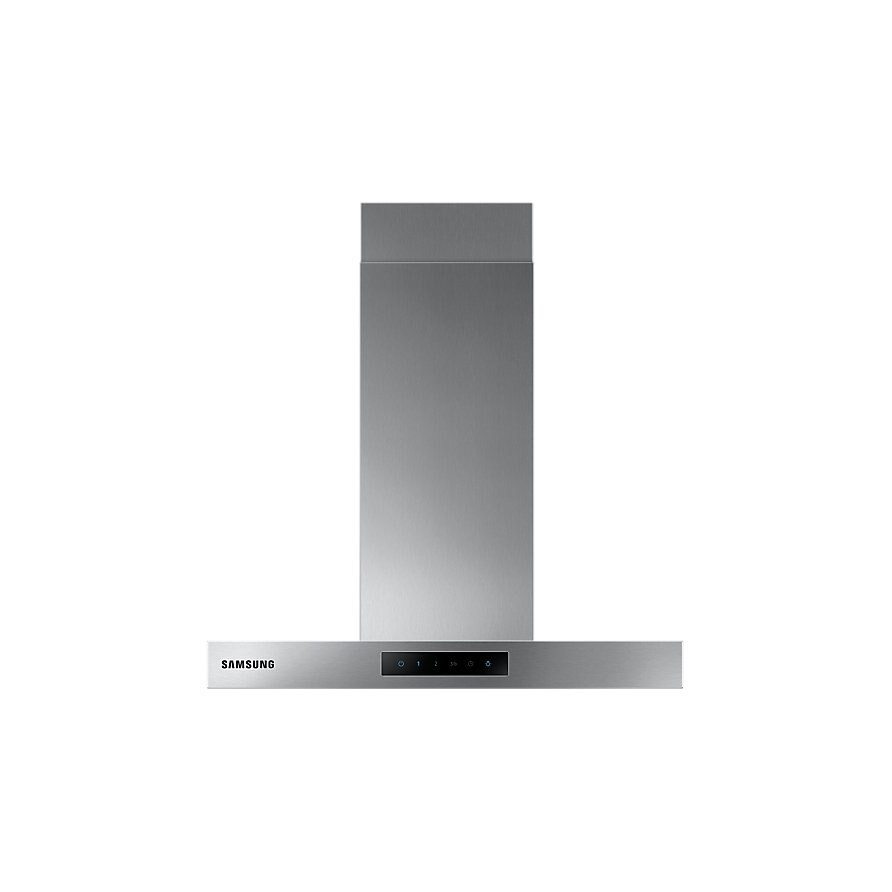Fotografie Hota incorporabila decorativa Samsung NK24M5060SS/UR, Putere de absorbtie 531 m3/h, 1 motor, 60 cm, Control tactil, Booster, Indicator saturare filtru, LED, Inox