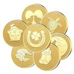"""Колекция медали """"Жълтички за късмет """" 7бр, с масивно златно покритие"""
