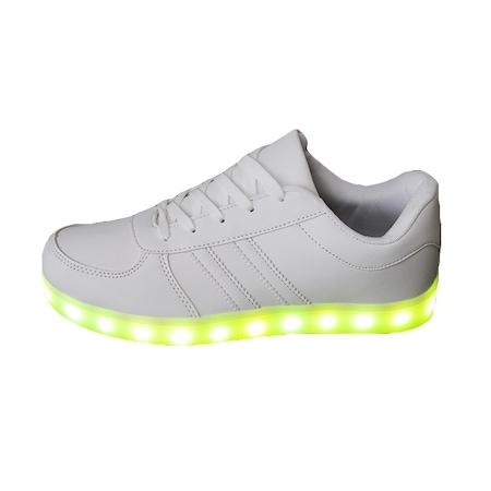 Pantofi Sport cu Leduri albi, Superstar, Unisex, Marimea 45