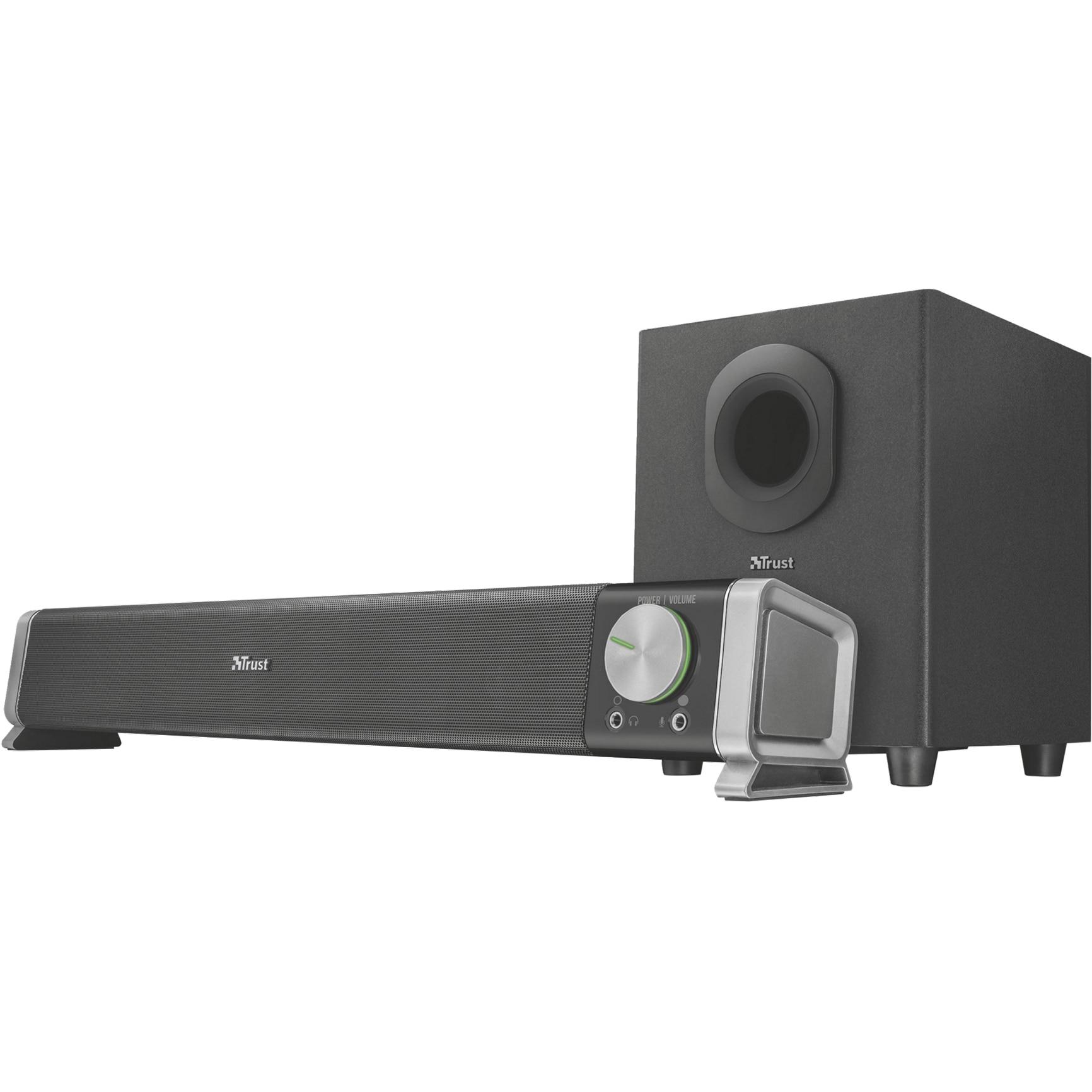 Fotografie Soundbar PC cu subwoofer Trust Asto, 20W, negru