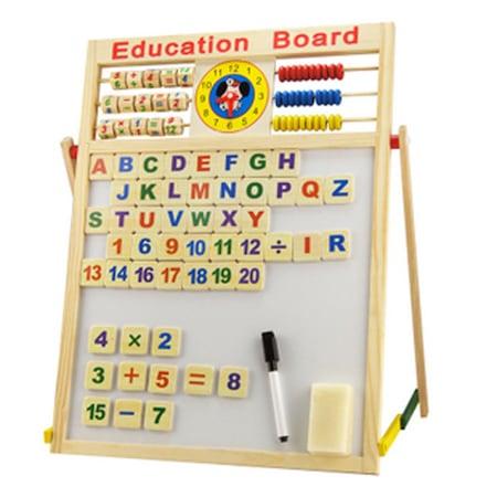 Tabla magnetica de scris cu doua fete si socotitoare, Education Board, Mare 46cm x 41cm