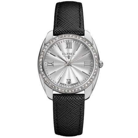 Ceas de dama Elysee Diana Silver-Black 28600B