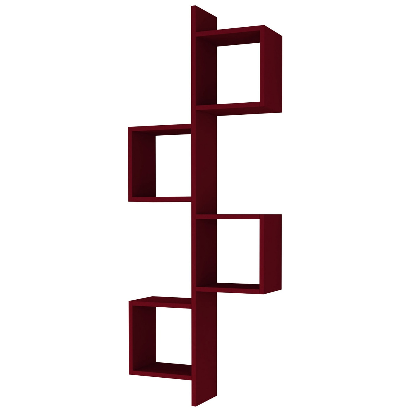 Fotografie Raft de perete Cling Homitis, 57.5 x 153.5 x 20 cm, rosu