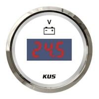 Ceas Indicator Voltmetru Digital, Kus, alb