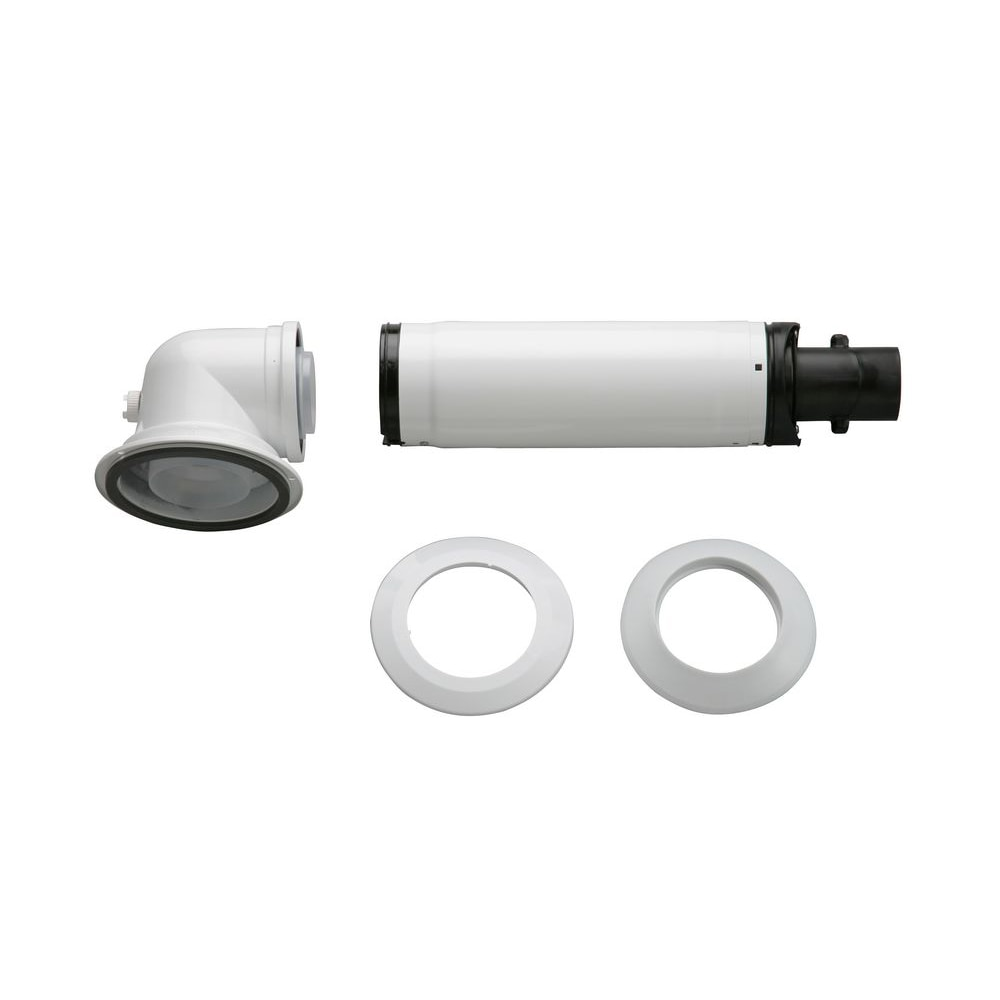 Fotografie Kit evacuare gaze arse orizontal Bosch, D=80/125 mm, L=335-550mm