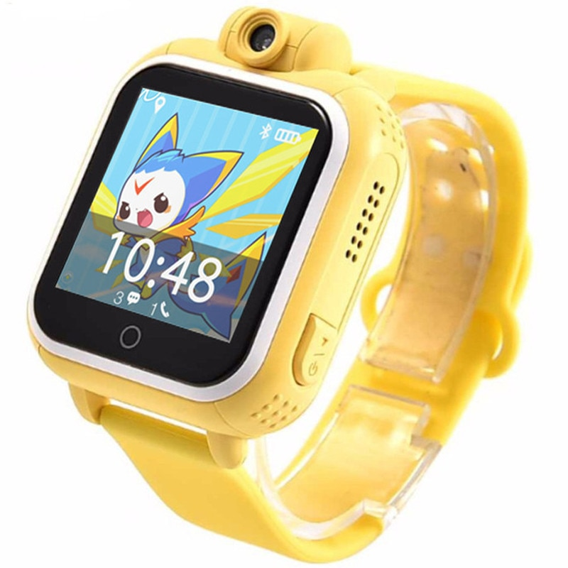 Fotografie Ceas smartwatch copii iUni Kid730, Telefon incorporat, GPS, Wi-Fi, Galben
