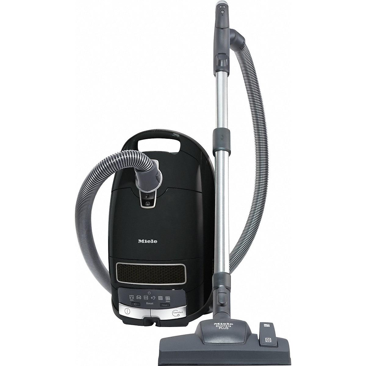 Fotografie Aspirator cu sac Miele Complete C3 Comfort EcoLine - SGMP3, 550 W, 4.5L, filtru HEPA, comenzi pe maner, 72 dB, Negru