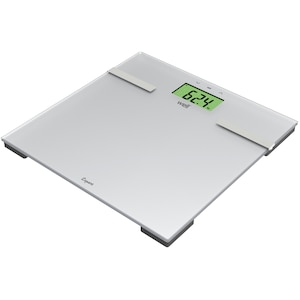 Cantar digital de baie Well Scale-PRSF-Expert-Wl, 180 kg, Functie de masurare apa/grasime, Sticla, Argintiu