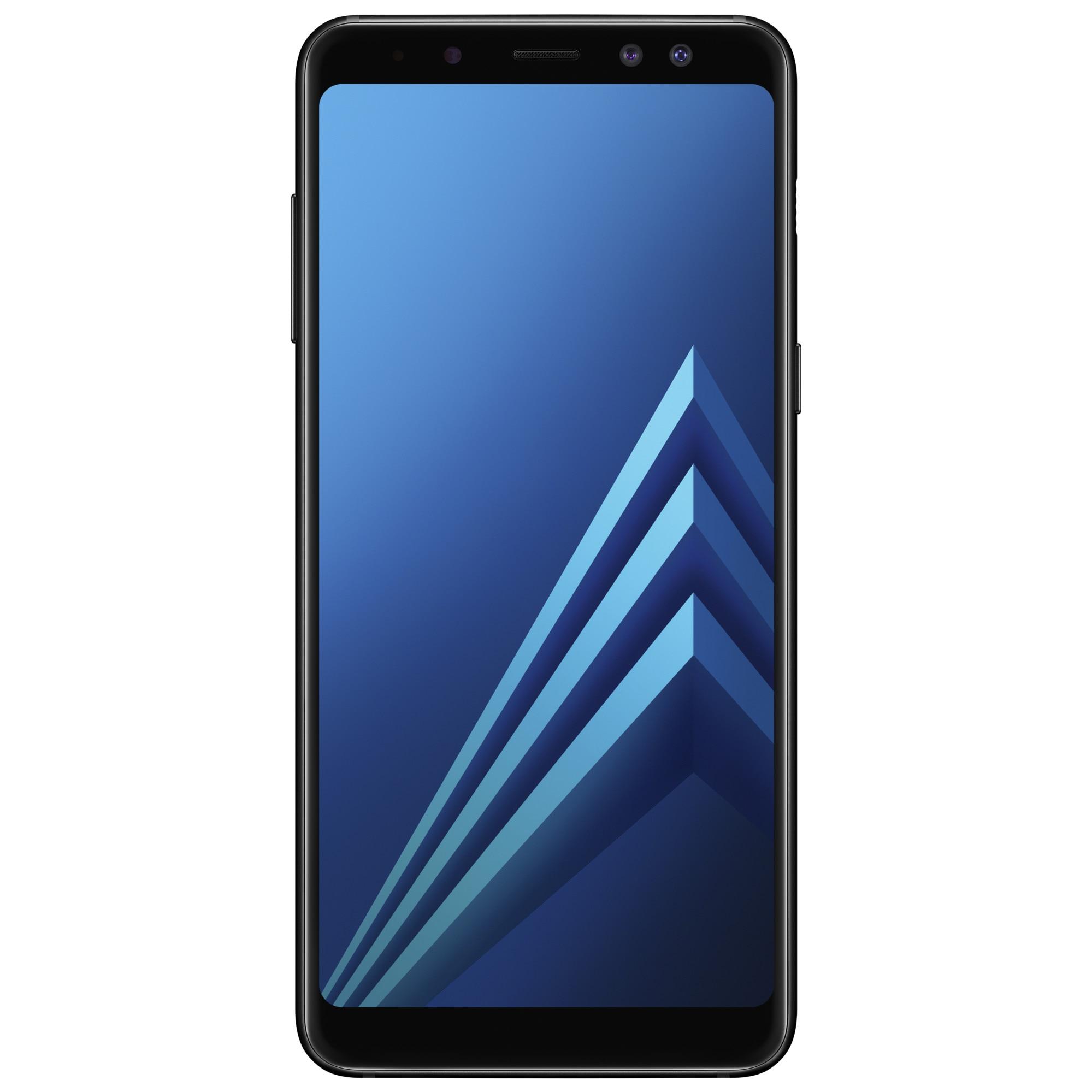Fotografie Telefon mobil Samsung Galaxy A8 (2018), Dual SIM, 32GB, 4G, Black