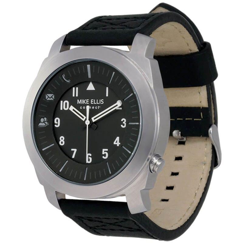 Fotografie Ceas smartwatch Mike Ellis Rocky Patel Series, Leather, Silver/Black