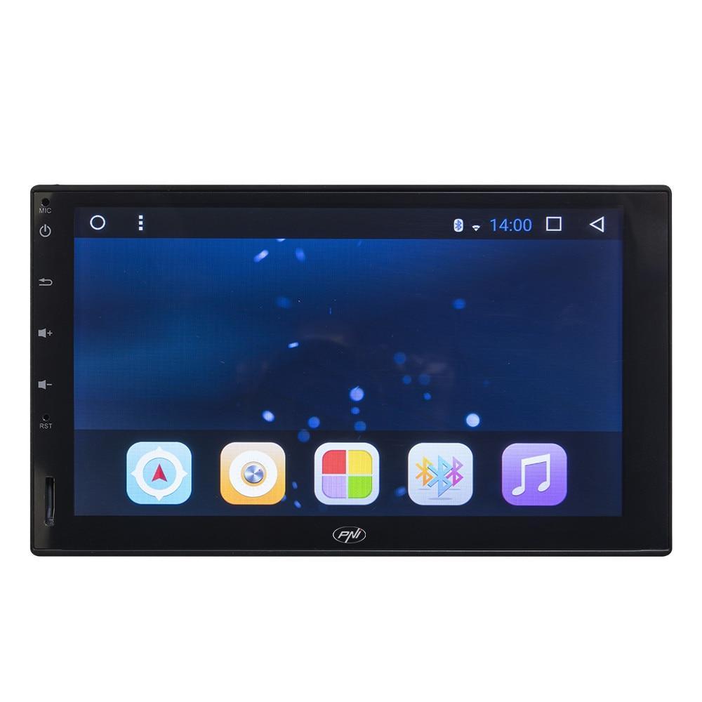 Fotografie Multimedia player auto PNI, A8020 HD, cu GPS, Android Bluetooth, Wifi, montaj 2 DIN, fara unitate optica