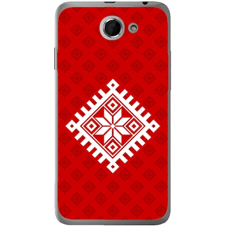Защитен калъф Guardo Red White Grid за HTC Desire 516
