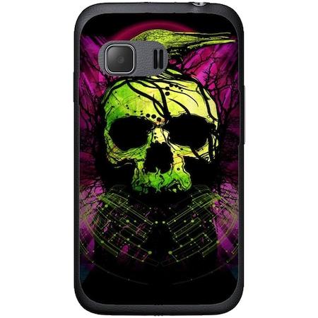 Защитен калъф Guardo Green Skull за Samsung Galaxy Young 2 G130