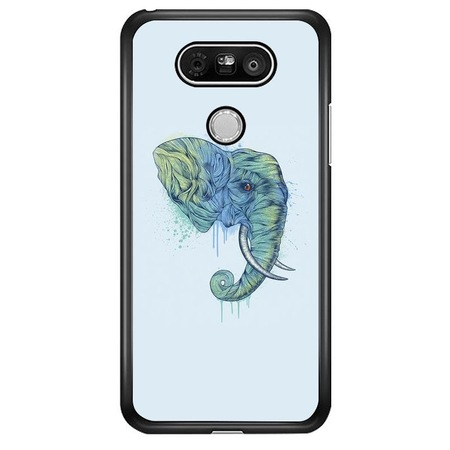Abstract Aqua Elephant Head LG G5 szilikon tok