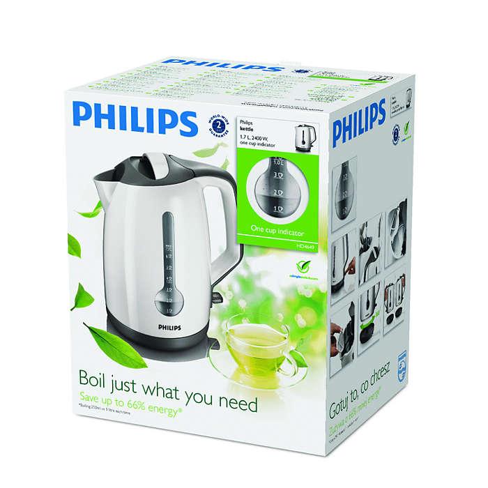 Philips HD4649 Vízforraló, 2400 W, 1.7 l, Fehér B8qUfU