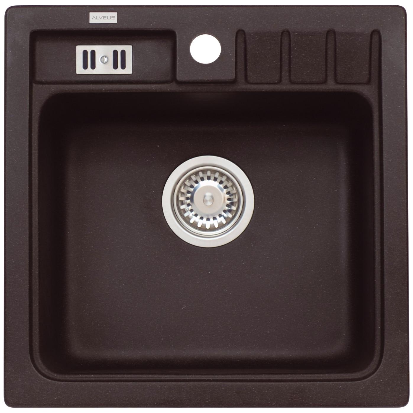 Fotografie Chiuveta Algranit Alveus Niagara 20 A91, 465x465mm, adancime cuva 180mm, material compozit, Negru