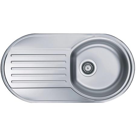 Кухненска мивка Alveus Form 40 leinen dr, 832x437мм, Дълбочина корито 150мм, Инокс, Дясно корито