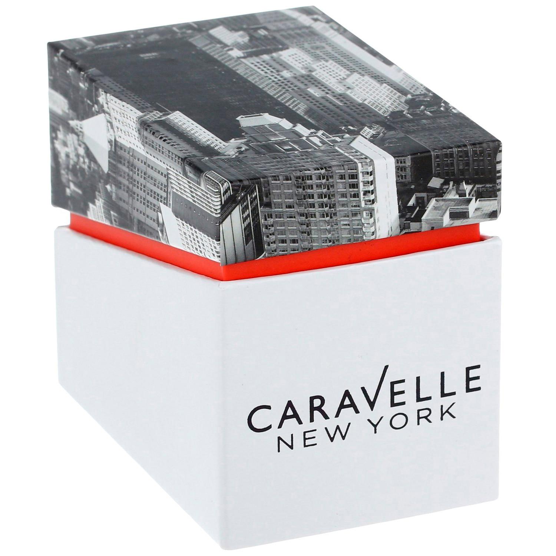 Caravelle New York férfi Quartz nemesacél casual óra karóra