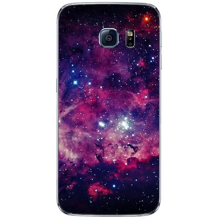 Space Purple SAMSUNG Galaxy S6 Edge szilikon tok