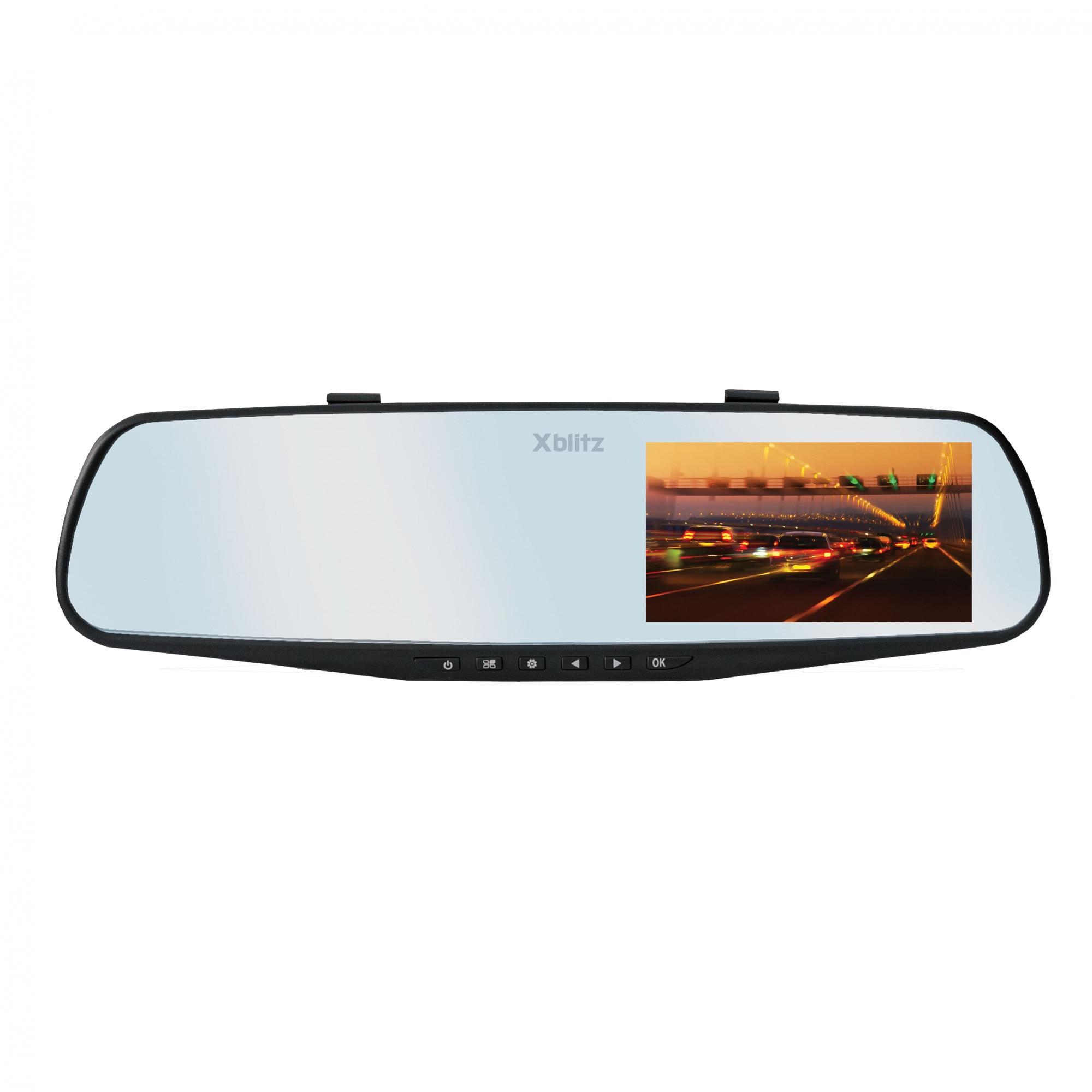 """Fotografie Camera auto DVR Xblitz Mirror, Full HD, 4.3"""", 140 grade, negru"""