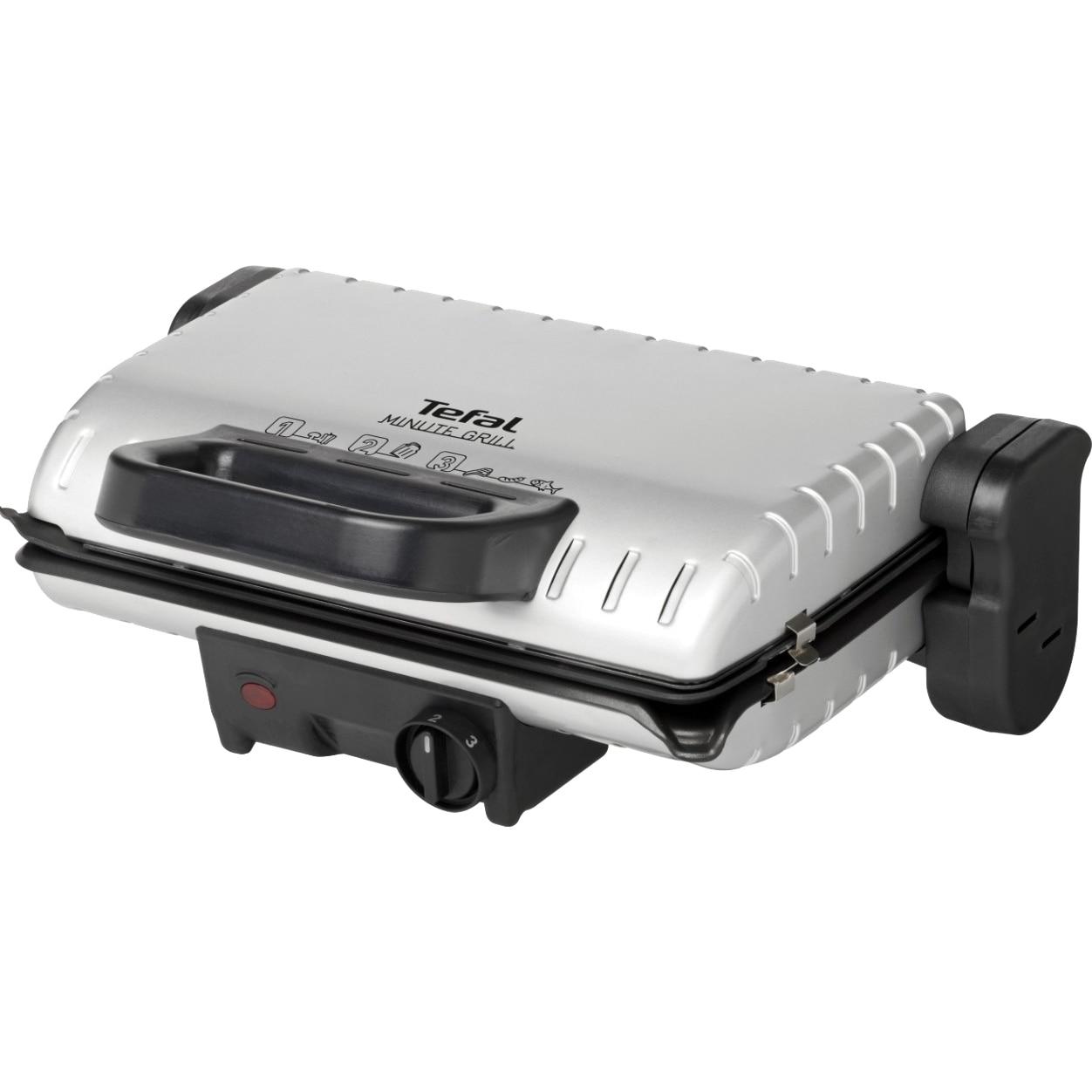 Fotografie Gratar electric Tefal GC205012, 1600 W, 21 x 33.5 cm, Negru/Gri