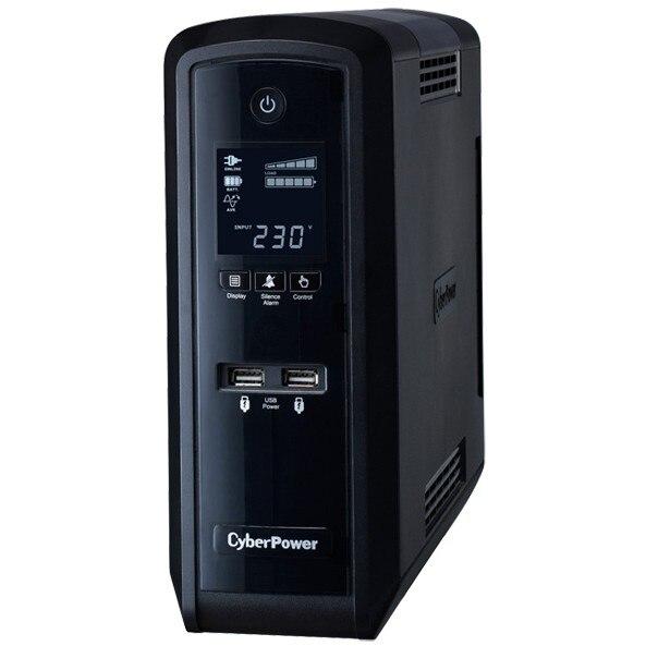Fotografie UPS Cyber Power CP1300EPFCLCD, 1300 VA, 780 W, AVR, LCD Display, RJ11, RJ45, USB, Serial