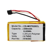 Motorola 61638C, SNN5904A, SNN5904A 3.7V 230mAh utángyártott akku Li-Polymer