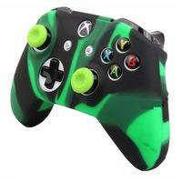 Xbox One - Kontrollerhez - Szilikon borítás - terepmintás - zöld/fekete