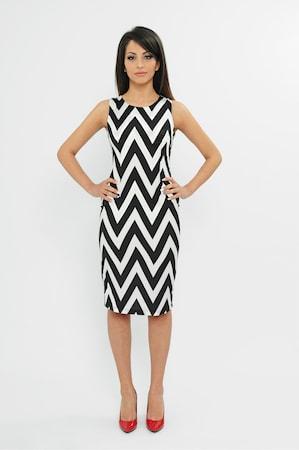 Дамска рокля MARYETT Manhattan, Черен/Бял