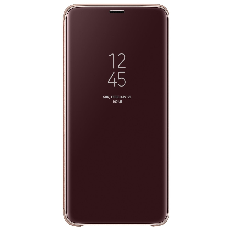 Fotografie Husa de protectie Samsung Clear View Standing pentru Galaxy S9 Plus, Gold