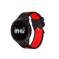 SoVogue smart karkötő, Bluetooth 4.0, szív, kalória, lépésszámláló, piros